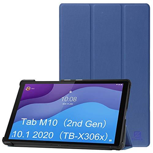 ZhaoCo Custodia Compatibile con Tablet Lenovo Tab M10 HD (2nd Generazione) 2020 Rilasciato (TB-X306X   TB-X306F), Custodia Sottile e Leggera Antiurto in Pelle, Marina Militare