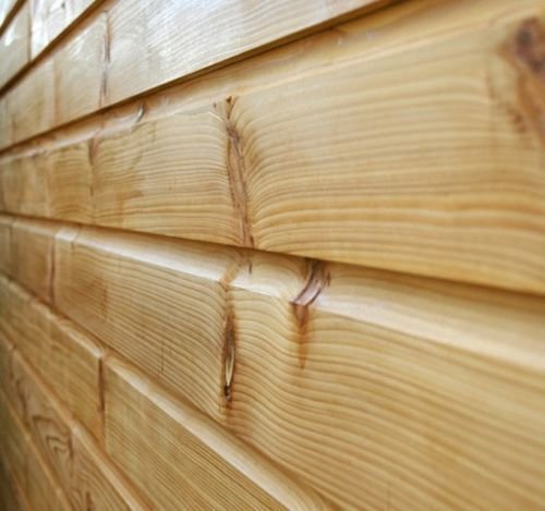 150mm x 15mm Thick Treated Wooden Shiplap Cladding Boards 1.8m (10)