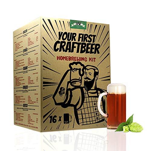 #Cervezanía | Kit de Cerveza extracto IPA | tu Primera Cerveza casera | 8 litros | Hacer Cerveza Artesanal