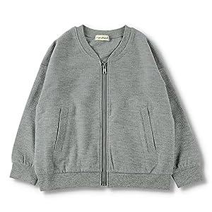 [ブランシェス] ジップアップ ライトジャケット 男の子 キッズ 子供 男児 ボーイズ ユニセックス 女の子 カーディガン UV加工 無地シンプル 上着 羽織 110 杢グレー
