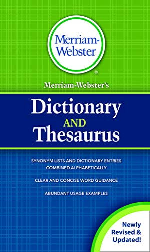 Merriam-Webster's Dictionary and Thesaurus, New Title, (Hardcover) 2020 Copyright