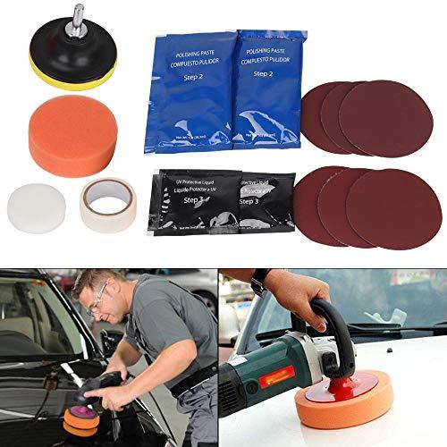 MorNon 15 Stück Auto Scheinwerfer Reparatur Polierset für Scheinwerfer Polierset Kratzpolierlampe Reparaturbeschichtung Aufheller