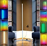 JINGBO RGB Floor Light, LED Dimmable Corner Floor Lamp with Remote Control, Nordic Decoration Home Floor Lamps for Living Room Night Light Dimming Standing Lamp Bedroom Decor Floor Light,White