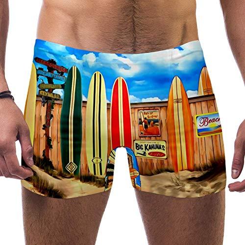 Lorvies Surf-Malerei Herren Schwimm-Boxershorts, kurze quadratische Beine, Badeanzug, schnell trocknend, Größe S Gr. Verschiedene Größen, multi