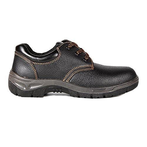 Arbeitsschuhe herren S1 , Schuhe, Leder Sicherheitsschuhe herren - Wasserdichte schuhe, mit Rutschfeste Profilsohle, Schwarz, Stahlkappen schuhe herren Sehr Bequeme, Sicherheitsstiefel für männer