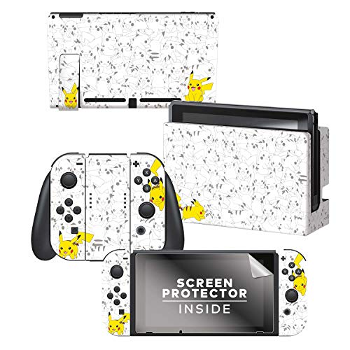 Controller Gear Officially Licensed Nintendo Pokémon Switch Console Skin 'Pikachu Set 2'