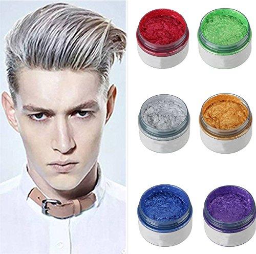 ILOVEDIY Cire Coiffante Cheveux Gel Colorant Cheveux Coloration Cheveux Temporaire pour Homme Femme...