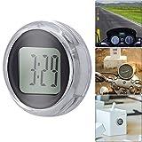 BTOPER Reloj de la Motocicleta Impermeable Universal Adhesivo Reloj Digital de la Moto por Motocicletas, Bicicletas, Oficina, Coche
