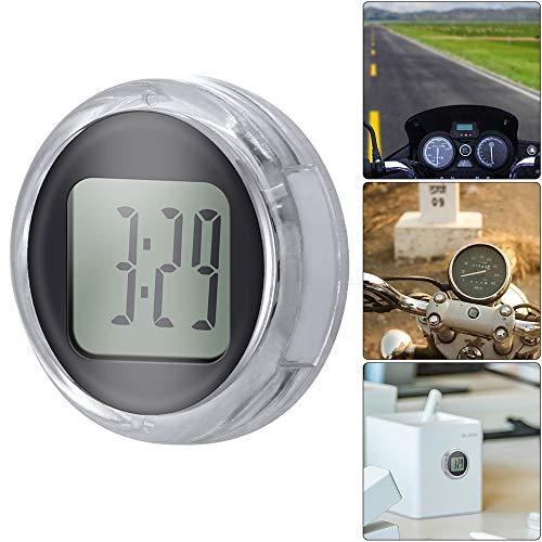 YChoice365 Mini-Uhr, 1,1 Zoll Durchmesser Universelle Digitale Mini-Motorraduhr mit Knopfbatterie, wasserdichte Motorraduhr Aufklebbares Motorrad/Kühlschrank/Bad/Küche