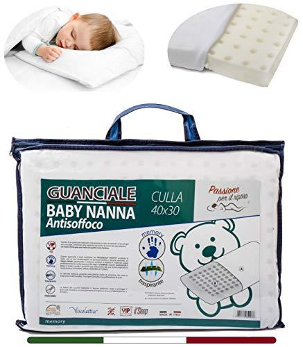 Memory Foam Kopfkissen Kinder - Kissen Baby (MADE in ITALY und OEKO-TEX®) - Kissen Kinder 40x30 cm - Baby Kissen Ideal für Baby Bett oder Kinder Bett