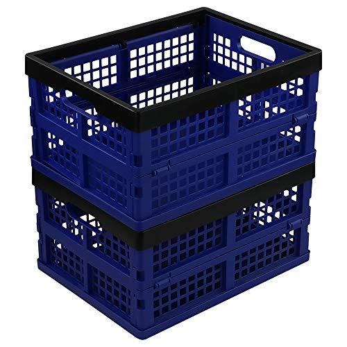Neadas Caja Cesto Plegable de Almacenamiento Plastico, 2 Paq