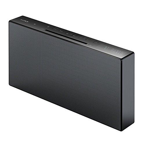 Sony CMTX3CD Sistema Hi-Fi Stereo con Wireless Bluetooth, All in One, Suono Cassa a 2 canali, Radio FM, Lettore CD, Ingresso USB, NFC, Compatibile con Smartphone iPhone, Android e PC, Nero