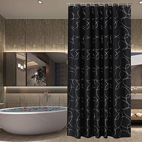 MADIGFIGI Shower curtainMosaic Shower Curtain Square Geometric Pattern Shower Curtain Thick Polyester Shower Curtain Bathroom Waterproof Shower Curtains
