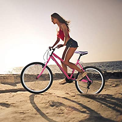 ?US Stock? Bike for Women 26 Inch for Sale Pink - Classic Bicycle with Rear Frame | Hybrid Comfort Bike Retro Bicycle Beach Cruiser Bicycle Road Bike Urban Commuter Single Speed Bike Lightweight