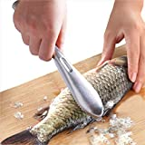 Fish Scaler, Fish Scaler Remover, Stainless Steel Sawtooth Easily Remove Fish...