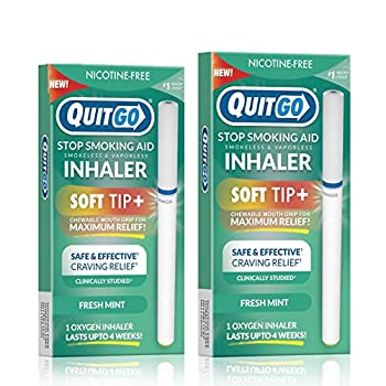 Nicotine-Free Smoke-Free Oxygen Inhaler with Soft Tip Chewable Filter for Maximum Relief Clinically Studied to Help Cope with Oral Fixation and Quit Smoking Support  Twin Pack Fresh Mint