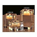 Portavelas de cristal K9 de alta calidad de Cosy-YcY, candelabro de...
