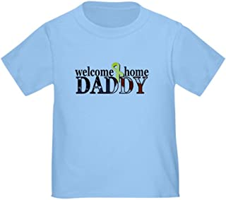 CafePress Welcome Home Daddy, Flag Desi Toddler Tshirt