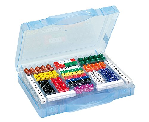 Betzold 82054 - Würfelkoffer mit 162 Würfeln - Würfel-Set Spielwürfel Zahlenwürfel