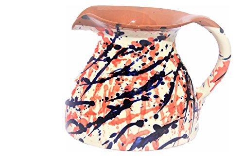 Amazing Cookware en Terre Cuite Splatter Chubby Pichet, en CÉRAMIQUE, crème/Bleu/Rouge, 20.5 x 18.5 x 15.5 cm