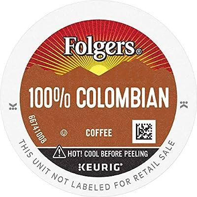 FOLGERS K CUPS 100% Colombian Medium Roast Coffee, 128 K Cups for Keurig Coffee Makers