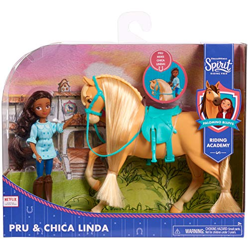 DreamWorks Spirit Riding Free Collector Doll & Horse – PRU & Chica Linda, Multi-Color, 5 inches