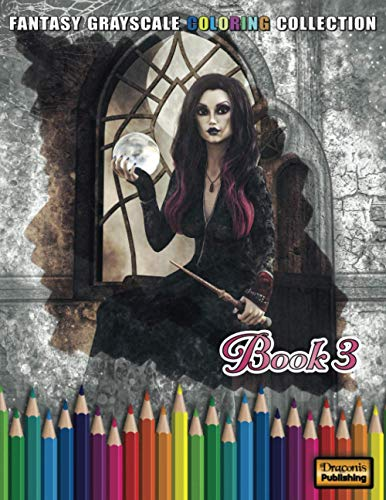 Fantasy Grayscale Coloring Collection, Book 3: 32 Fantasy Scenes and Characters for Adults to Color (3D Fantasy Renderings, Band 3)