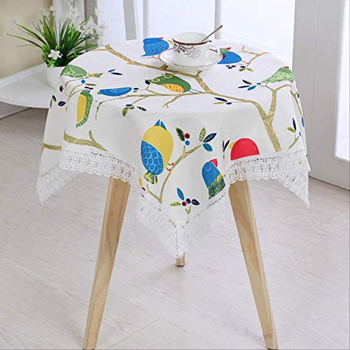 N/Rose Ronde Tafelkleed Blending Waterdichte Rechthoek Vierkante Dot Eettafel Doek Stofdichte Cover Thuis Gebruik 130x130cm