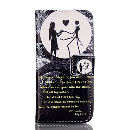 ISAKEN Compatibile con iPhone 5 5S SE Custodia - Libro Pelle PU Cover Protettiva Flip Portafoglio Case Wallet Cover Protezione Caso/con Supporto di Stand/Carte Slot/Chiusura - Danza Moon