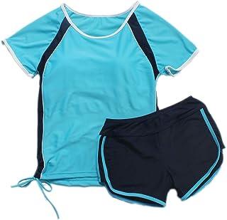 スクール水着 女の子 水着 学校用水着 Uカットタイプ 着痩せ 体型カバー 水陸両用 スイミング ランニング