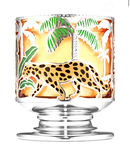 White Barn Bath & Body Works Jungle Critters Large 3-Wick Candle Holder