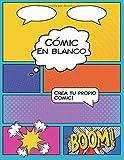 Cómic En Blanco: Para adultos, adolescentes o niños a partir de 07 años, para crear sus propios cómics personalizados - 100 páginas de escenas cómicas vacías  - Dimensiones (21.59 x 27.94 cm).