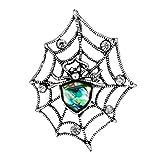 Broche Bodhi2000 para mujer, diseño vintage con concha de diamantes de imitación, diseño de telaraña