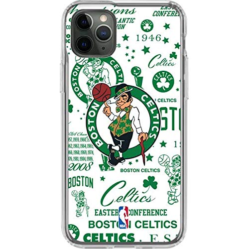 Skinit Clear Phone Case for iPhone 11 Pro Max - Officially Licensed NBA Boston Celtics Historic Blast Design