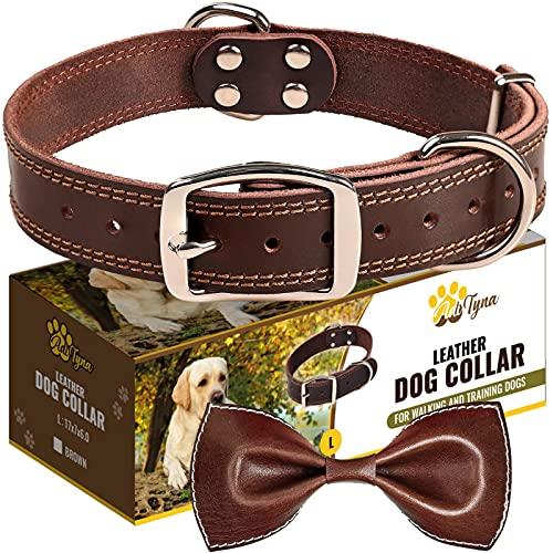 ADITYNA Leather Heavy Duty Dog Collar