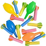 Kicko Foam Rocket Launchers Set with Hand Pump - 24 Pack of 3.5 Inch Rockets - for Kids, Parties, Birthdays, Party Favors