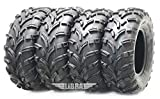 Set 4 ATV Tires 25x10-12 & 25x11-12 for 10-13 Polaris Ranger 800 XP/EFI/EPS