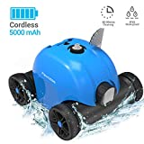 PAXCESS Cordless Automatic Pool Cleaner, Robotic Pool Cleaner with 5000mAh Rechargeable Battery,...