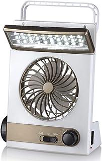 KKDWJ Ventilador de Escritorio Solar Luz led 45 ° Arriba y Abajo Ventilador de enfriamiento portátil silencioso para el hogar Caravan Caravana Invernadero Cobertizo Invernadero Oficina,White
