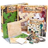 The Master's Menagerie: RPG Dungeon Master Kit - 88 Reversible Dry/Wet Erase Map Tiles - Parchment, White, Stone, Grass - 200+ Reversible Item Token Objects - Tabletop Fantasy Game Starter Accessories