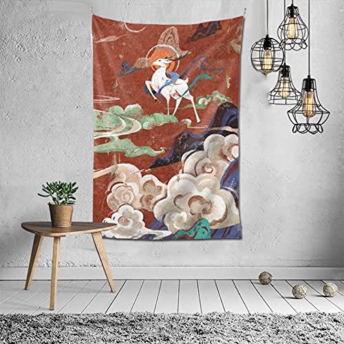 Mantas Tapices Decoraciones de Pared Ventanas Decoración de Interiores Regalos de Moda Populares Murales Decorativos Telas Tapices Universales (60x40 pulgadas)/Tale Of Genji Ukiyo E