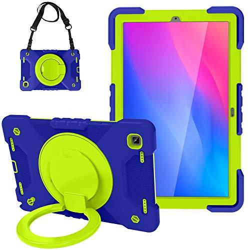 Tablet PC Bolsas Bandolera Tablet Funda para Samsung Galaxy Tab A7 10.4 T500 / T505 2020, Niños Duradera cubierta protectora a prueba de golpes, con soporte de mango plegable, soporte giratorio, corre