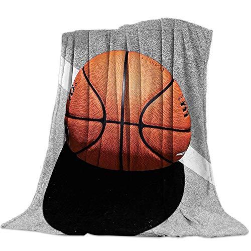 Mantas Para Manta Blanket Manta de baloncesto fondo blanco y negro Mantas 125X100CM