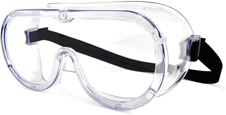 10 gafas de seguridad, transparentes envolvente, gafas protectoras selladas con gafas, utilizadas en laboratorio de bricolaje y enfermería, enfermeras hospitales