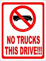 このドライブはトラックなし 金属板ブリキ看板注意サイン情報サイン金属安全サイン警告サイン表示パネル