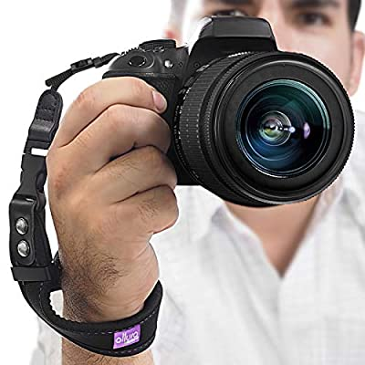 Camera Wrist Strap - Rapid Fire Heavy Duty Safety Wrist Strap by Altura Photo w/ 2 Alternate Connections for Use w/Large DSLR or Mirrorless Cameras