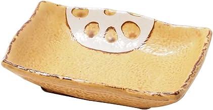 Minoru Touki Pottery Nenuphar Today Corners ?? Yellow 3Piece Set 21-726425 4×3.04×0.96in