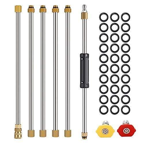 SPRINGHUA Herramienta de lavado a presión diaria varita, limpieza eléctrica, 1/4 conexión rápida, M22, 4000 Psi