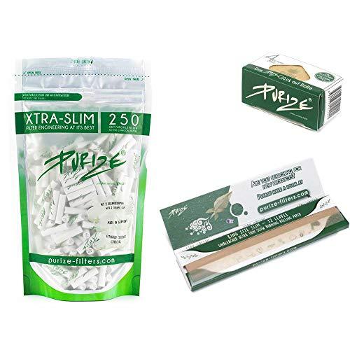 250er Pack PURIZE® Xtra Slim Size Aktivkohlefilte