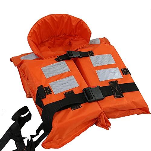 Chaleco Salvavidas, Lleno de Espuma de Alto Flotante, Tiras Reflectantes, Resistente al Desgaste y Resistente al Desgaste, Gran Carga de Carga, Adecuada para Deportes acuáticos-Naranja